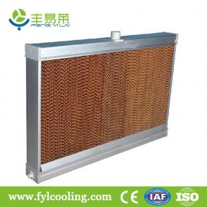 China FYL cooling pad/ evaporative cooling pad/ wet pad with aluminum frame on sale