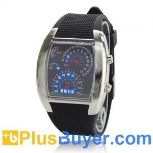 China Blue Binary LED Light Dot Matrix Wrist Watch on sale