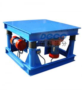 China Cement Molds Vibrator Equipment / Compaction Vibrating Tables In Blue Color on sale