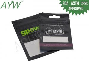 China Resealable Smell Proof Zipper Bags Biodegradable For Marijuana Medication on sale