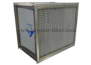 China Separator H13 High Temperature HEPA Filters Stainless Steel SUS 304 Frame on sale