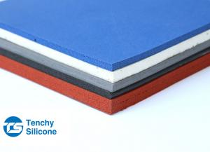 China Colored No Poison Silicone Sponge Rubber Sheet For High Temperature Resistance on sale