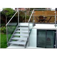 Building Stainless Steel Glass Stair Rails And Banisters Modern Design