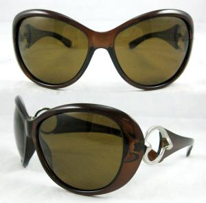 China Dark Brown Customized Fashion Sun glasses For Ladies CE EN1836 BP-8406 on sale
