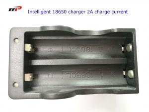 China 2 Slots 18650 Intelligent Battery Charger Led Display Fast Charging UL CE KC on sale