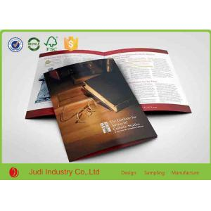 China 140 X 250 Mm Colour Brochure Printing Hard Proofs With Spiral Binding on sale