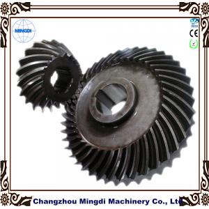 China Customized Large & Small Modulus Spiral Bevel Gear / Helical Bevel Gear for oil drilling on sale