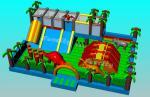 Custom 0.55mm PVC Tarpaulin Popular Jumping Bounce Inflatable Playground For Kids