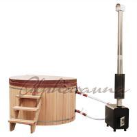 2100*900/1000/1200MM Sauna Hot Tub With Burning Stove Garden A Grade clear  Cedar Tub