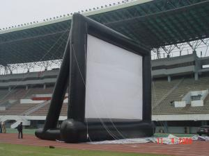 China Customizable Airtight Inflatable Movie Screen PVC Tarpaulin 4 * 4m With Blower on sale
