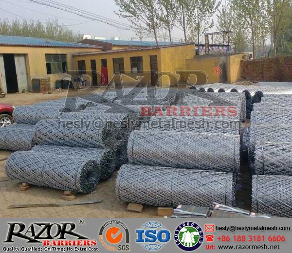 diamond razor mesh fence