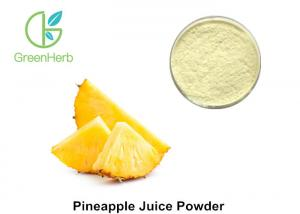 China High Pure Fruit Juice Powder , Light Yellow Pineapple Extract Powder on sale