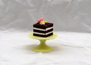 China Mini Ceramic Cupcake Stand , Customized Color Dolomite Small Cake Stand on sale