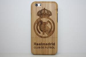 China custom Real Madrid Carbon Bamboo Iphone 6 4.7 Inch wooden mobile phone case on sale