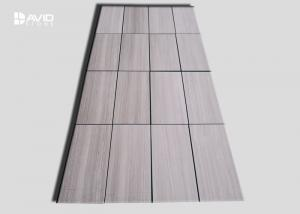 China White Wood Grain Polished Marble Wall Tile For Bathroom / Fireplace on sale