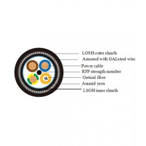 China G652D single mode optical electric composite cable on sale