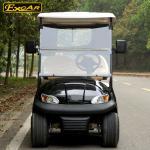 Most Popular 2 Seats Electric Golf Carts With Cloak , 100 Waterproof Accelerator