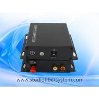 China fiber optic stereo audio to RCA converter for 1CH stereo audio over 1 SM/MM fiber extender in professional AV system on sale