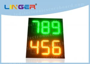 China 888 12inch Led Gas Price Sign , Led Petrol Station Price Signs Green Amber Color on sale