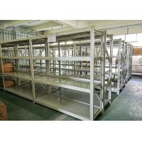 Blue Or White Color Light Duty Metal Shelving Warehouse Storage Racks 4 Layers