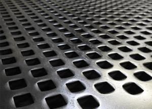 China Vibrating Stainless Steel Perforated Metal Screen Powder Coating Smooth Surface on sale