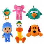 Beaux petits jouets de peluche bourrés par Pocoyo de bande dessinée pour la promotion 20cm