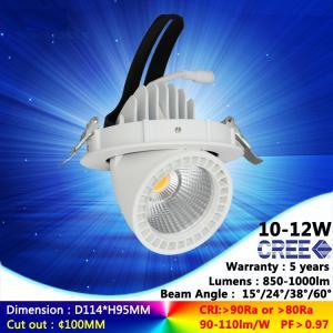 China 3000K 10W 12W ac230v recessed spotlight cree COB downlight with high quality good price on sale