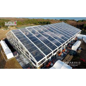 China 50m Width Large Luxury Wedding Tents , Transparent Top Tent For Different Event Festival on sale
