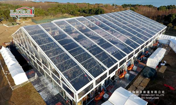 50m Width Large Luxury Wedding Tents  Transparent Top Tent For Different Event Images & 50m Width Large Luxury Wedding Tents  Transparent Top Tent For ...