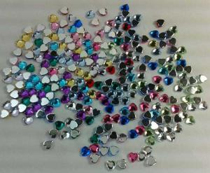 China 12 Colors Heart Shaped Acrylics Stones Birthstones Charms for Glass Floating Charm Locket on sale