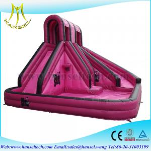 China Hansel commercial Wholesale kids&adults outdoor play inflatable slide on sale