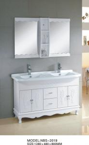 China Ceramic bathroom accessories custom double sink bathroom vanity 135 X 48 X 85 / cm supplier
