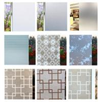 Decorative graphics see through window glass film for home decoration