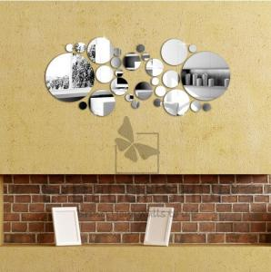 China hot sale sweet and fashion bedroom decorations DIY mirror wall sticker for decal on sale