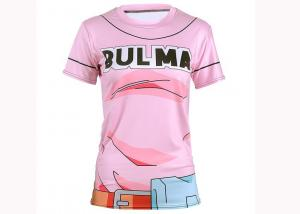 China Round Neck Youth Sports Clothing T - Shirt Cool Cartoon Top Light Weight on sale
