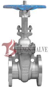 China Din Stainless Steel Rising Stem Gate Valve Flanged A351-CF8M Metal Seat With Handwheel on sale