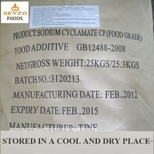 China Sodium Cyclamate--Artificial Food Grade sweetener additives  as sweetener in food and beverage on sale