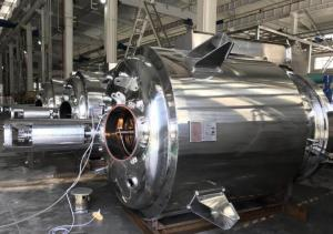 China Silver Color Stainless Steel Mixing Tank , Sanitary Mixing Tank With Agitator on sale