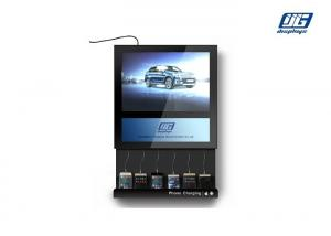 China Wall Mounted Commercial Phone Charging Sation with LED Light Box on sale