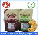 Resealable Custom Stand Up Pouches With Bottom Gusset For Cooky Packaging
