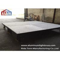Easy Install Portable Event StagesAluminium Frame Removable 2 Steps Stair