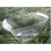 China clear plastic champagne ice bucket on sale