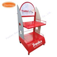 China 2 Tiers Lubricant Display Stand Oil Display Rack on sale