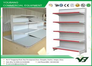 China Custom white gondola shelving , display shelves for retail stores 2 - 8layers on sale