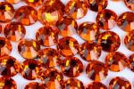 Round Heat Set Rhinestones / Fashionable Glass Crystal Rhinestones