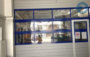 China Inserted Electric Garage Doors With Windows , Folding Garage Door on sale
