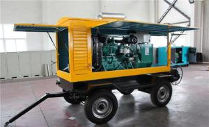 China Cummins 300 KW Trailer Mounted Diesel Generator Electric Statring Water Cooling on sale