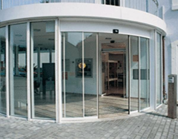 automatic Curved Door & Office Building Curved Sliding Doors for sale u2013 Curved Sliding Door ...