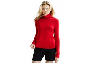 China Cashmere Womens Knit Sweater Computer Knitted Beautiful Short Length Pullover on sale