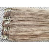 China Invisible Seamless Clip In Hair Extensions Remy Human Hair Could Be Flat Ironed / Restyle on sale